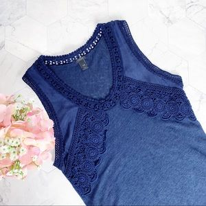 J. Crew Linen Lace Embroidered Sleeveless Top